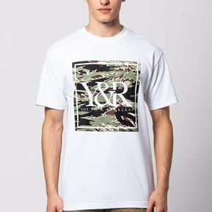 Young & Reckless White Camo Short Sleeve T Shirt